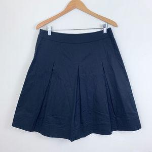 Talbots A-Line Pleated Black Skirt 10